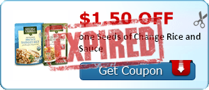 $1.50 off one Seeds of Change Rice and Sauce