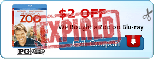$2.00 off We Bought a Zoo on Blu-ray