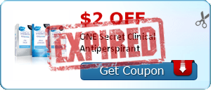 $2.00 off ONE Secret Clinical Antiperspirant