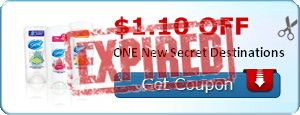 $1.10 off ONE New Secret Destinations