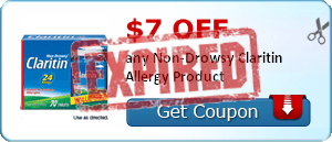 $7.00 off any Non-Drowsy Claritin Allergy Product