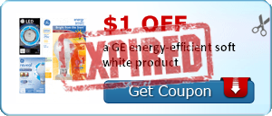 $1.00 off a GE energy-efficient soft white product
