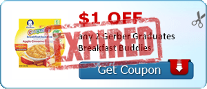 $1.00 off any 2 Gerber Graduates Breakfast Buddies