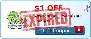 $1.00 off Any Kandoo Personal Care Products