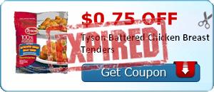 $0.75 off Tyson Battered Chicken Breast Tenders