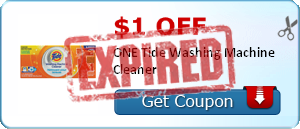 $1.00 off ONE Tide Washing Machine Cleaner