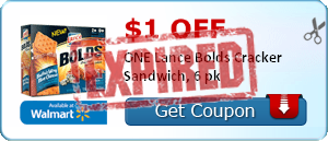 $1.00 off ONE Lance Bolds Cracker Sandwich, 6 pk