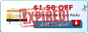 $1.50 off one Starbucks K-Cup Packs