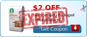 $2.00 off two Starbucks Packaged Coffee products