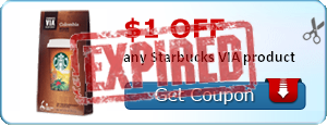 $1.00 off any Starbucks VIA product