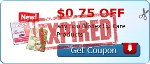 $0.75 off any two Blistex Lip Care Products