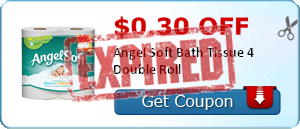 $0.30 off Angel Soft Bath Tissue 4 Double Roll