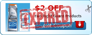 $2.00 off two Right Guard Products