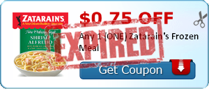 $0.75 off Any 1 (ONE) Zatarain's Frozen Meal