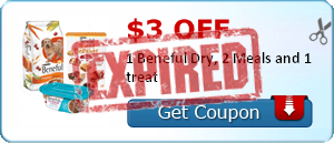 $3.00 off 1 Beneful Dry, 2 Meals and 1 treat