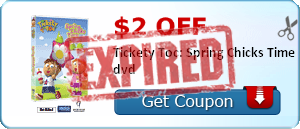 $2.00 off Tickety Toc: Spring Chicks Time dvd