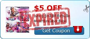 $5.00 off one (1) NERF Rebelle Heartbreaker Bow