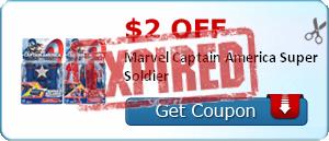 $2.00 off Marvel Captain America Super Soldier