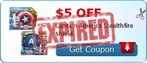 $5.00 off Captain America Stealthfire Shield