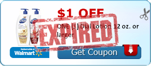 $1.00 off ONE (1) Dial Lotion 12 oz. or larger