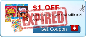 $1.00 off TWO BOXES General Mills Kid cereals