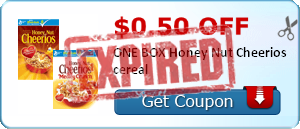 $0.50 off ONE BOX Honey Nut Cheerios cereal