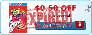 $0.50 off ONE BOX Trix cereal