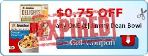$0.75 off any ONE (1) Jimmy Dean Bowl