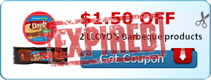 $1.50 off 2 LLOYD'S Barbeque products