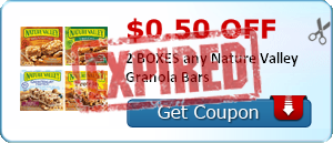 $0.50 off 2 BOXES any Nature Valley Granola Bars