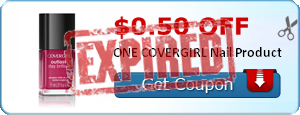 $0.50 off ONE COVERGIRL Nail Product