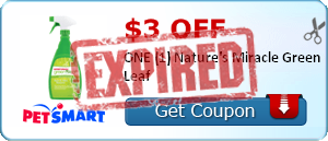 $3.00 off ONE (1) Nature's Miracle Green Leaf
