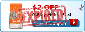 $2.00 off ONE Dry IAMS Cat Food