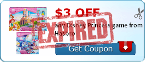 $3.00 off any Disney Princess game from Hasbro