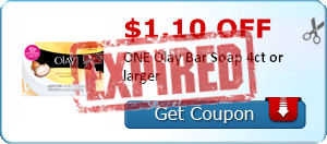 $1.10 off ONE Olay Bar Soap 4ct or larger