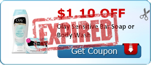 $1.10 off Olay Sensitive Bar Soap or Body Wash