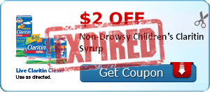 $2.00 off Non-Drowsy Children's Claritin Syrup