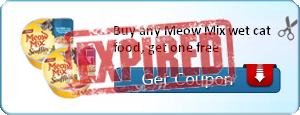 Buy any Meow Mix wet cat food, get one free
