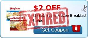 $2.00 off (2) Bob Evans Frozen Breakfast Items