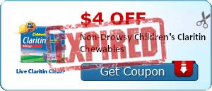 $4.00 off Non-Drowsy Children's Claritin Chewables