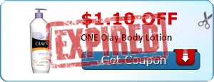 $1.10 off ONE Olay Body Lotion