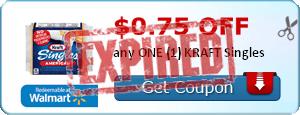 $0.75 off any ONE (1) KRAFT Singles