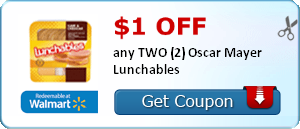 $1.00 off any TWO (2) Oscar Mayer Lunchables