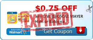 $0.75 off any ONE (1) OSCAR MAYER Ham or Bologna