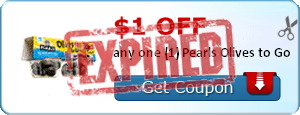 $1.00 off any one (1) Pearls Olives to Go