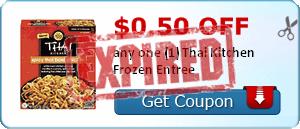 $0.50 off any one (1) Thai Kitchen Frozen Entree