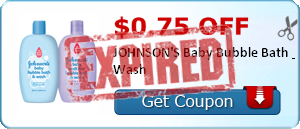 $0.75 off JOHNSON'S Baby Bubble Bath & Wash