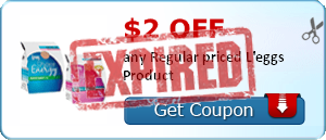 $2.00 off any Regular priced L'eggs Product