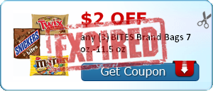 $2.00 off any (3) BITES Brand Bags 7 oz.-11.5 oz
