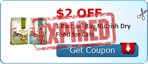 $2.00 off 1 Rachael Ray Nutrish Dry Food for Cats
